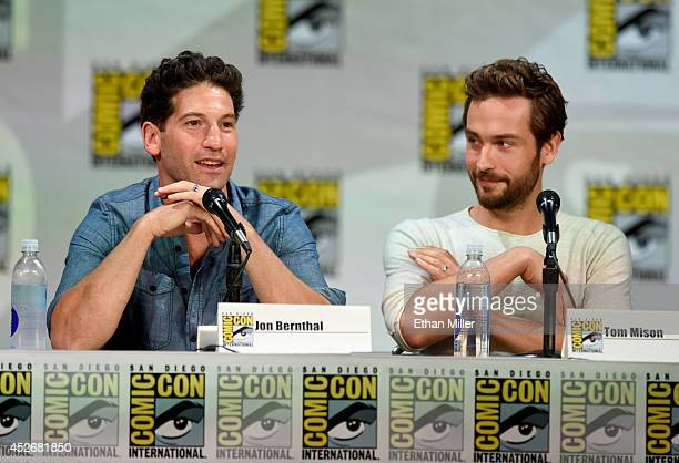 Actors Jon Bernthal and Tom Mison attend the Entertainment Weekly Brave New Warriors panel during ComicCon International 2014 at the San Diego...