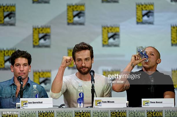 Actors Jon Bernthal Tom Mison and Theo Rossi attend the Entertainment Weekly Brave New Warriors panel during ComicCon International 2014 at the San...