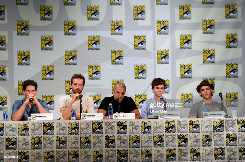 Actors Jon Bernthal, Tom Mison, Theo Rossi, Freddie Highmore and Brenton Thwaites attend the Entertainment Weekly: Brave New Warriors panel during Comic-Con International 2014 at the San Diego Convention Center on July 25, 2014 in San Diego, California.