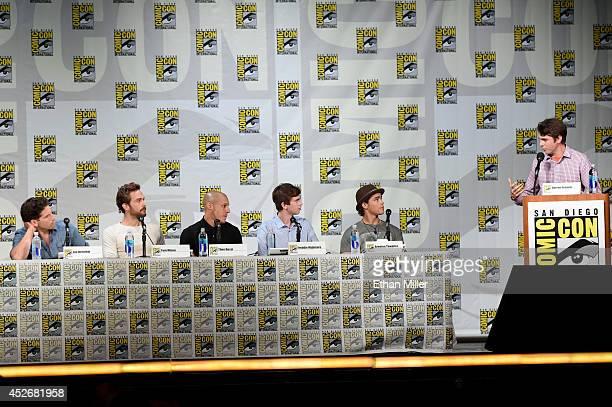 Actors Jon Bernthal Tom Mison Theo Rossi Freddie Highmore Brenton Thwaites and Entertainment Weekly's Darren Franich attend the Entertainment Weekly...