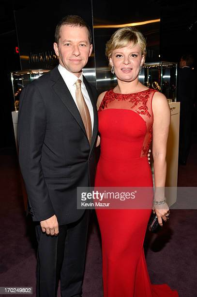 Actors Jon Cryer and Martha Plimpton attend The 67th Annual Tony Awards at Radio City Music Hall on June 9 2013 in New York City