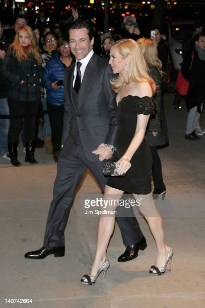 Actors Jon Hamm and Jennifer Westfeldt attend the Cinema Society People StyleWatch with Grey Goose screening of 'Friends With Kids' at the SVA...