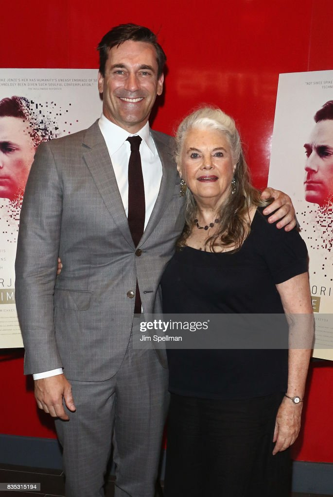 Actors Jon Hamm and Lois Smith attend the 'Marjorie Prime' New York premiere at Quad Cinema on August 18, 2017 in New York City.