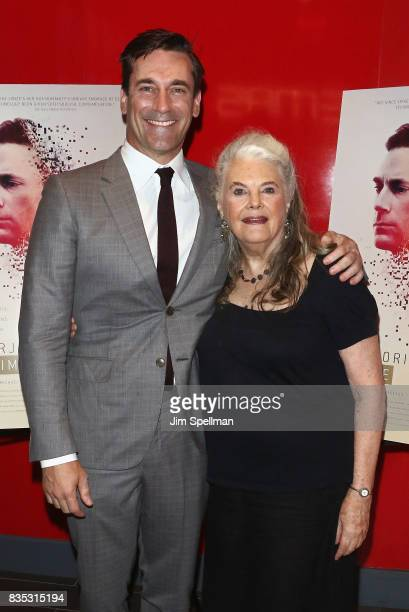 Actors Jon Hamm and Lois Smith attend the 'Marjorie Prime' New York premiere at Quad Cinema on August 18 2017 in New York City