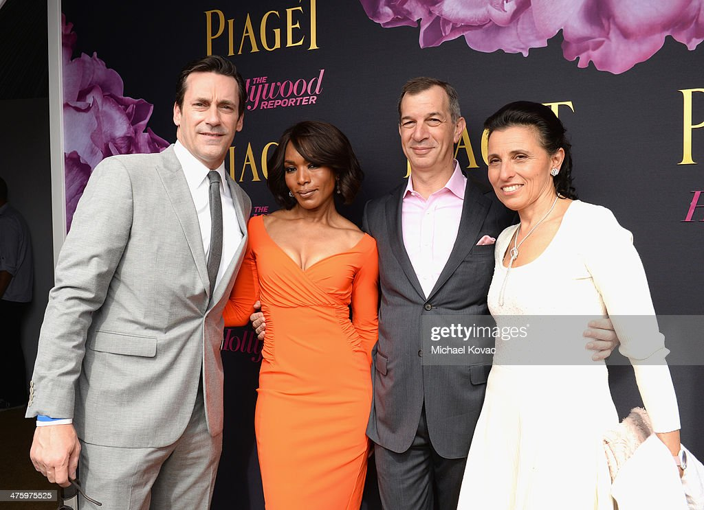 Actors Jon Hamm, Angela Bassett, CEO of Piaget Philippe Leopold-Metzger and Catherine Leopold-Metzger attend the 2014 Film Independent Spirit Awards at Santa Monica Beach on March 1, 2014 in Santa Monica, California.