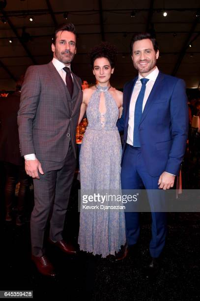 Actors Jon Hamm Jenny Slate and Edgar Ramirez attend the 2017 Film Independent Spirit Awards at the Santa Monica Pier on February 25 2017 in Santa...