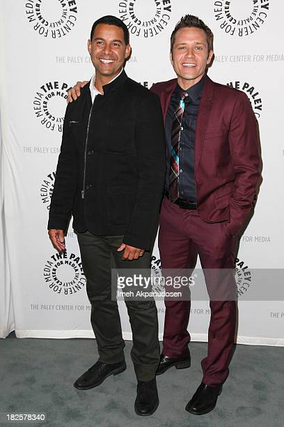 Actors Jon Huertas and Seamus Dever attend The Paley Center for Media's presentation 'The Wait Is Over 'Castle' Is Back' at The Paley Center for...