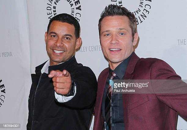Actors Jon Huertas and Seamus Dever attend the screening of ABC's 'Castle' at The Paley Center for Media on September 30 2013 in Beverly Hills...