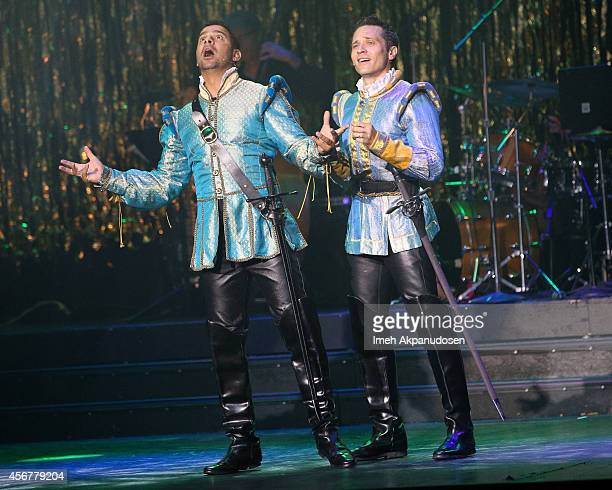 Actors Jon Huertas and Seamus Dever performs onstage at the 14th Annual Les Girls at Avalon on October 6 2014 in Hollywood California