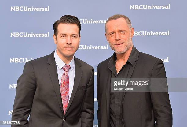 Actors Jon Seda and Jason Beghe attend the NBCUniversal 2016 Upfront Presentation on May 16 2016 in New York New York