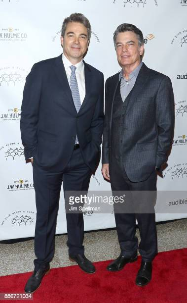 Actors Jon Tenney and Peter Gallagher attend the 2017 New York Stage and Film Winter Gala at Pier Sixty at Chelsea Piers on December 5 2017 in New...