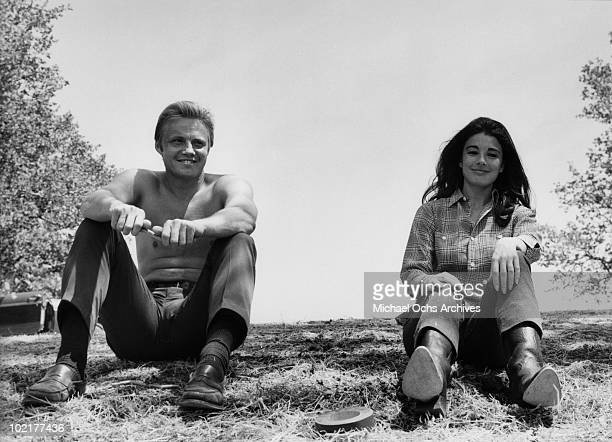 Actors Jon Voight and Anne Archer in a scene from the movie 'The AllAmerican Boy' in 1971 in California