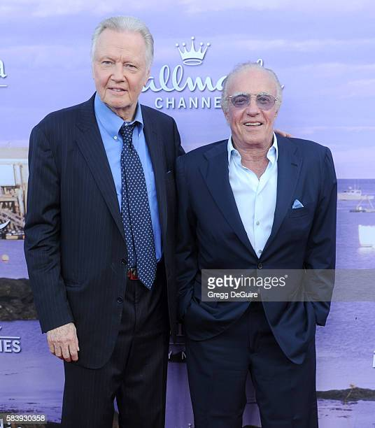 Actors Jon Voight and James Caan arrive at the Hallmark Channel and Hallmark Movies and Mysteries Summer 2016 TCA Press Tour Event on July 27 2016 in...