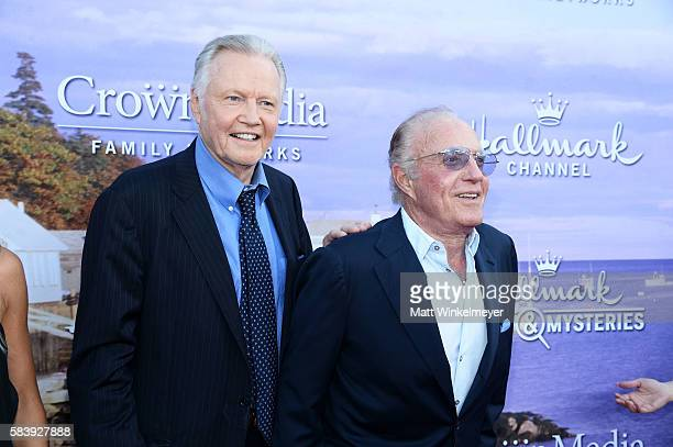 Actors Jon Voight and James Caan attend the Hallmark Channel and Hallmark Movies and Mysteries Summer 2016 TCA press tour event on July 27 2016 in...