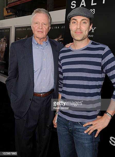 Actors Jon Voight and James Haven arrive at the premiere of Sony Pictures' 'Salt' at Grauman's Chinese Theatre on July 19 2010 in Hollywood California