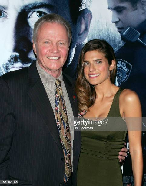 Actors Jon Voight and Lake Bell attend the Premiere for Pride and Glory at AMC Loews lincoln Square 13 on October 15 2008 in New York City