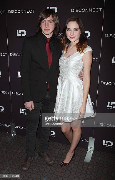 Actors Jonah Bobo and Haley Ramm attend Disconnect New York Special Screening at SVA Theater on April 8 2013 in New York City