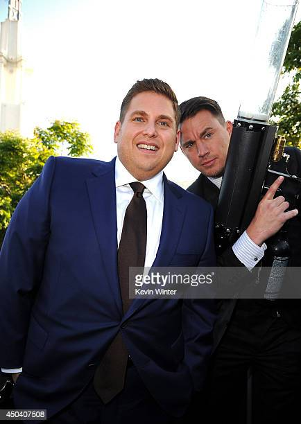 Actors Jonah Hill and Channing Tatum attend the Premiere Of Columbia Pictures' 22 Jump Street at Regency Village Theatre on June 10 2014 in Westwood...