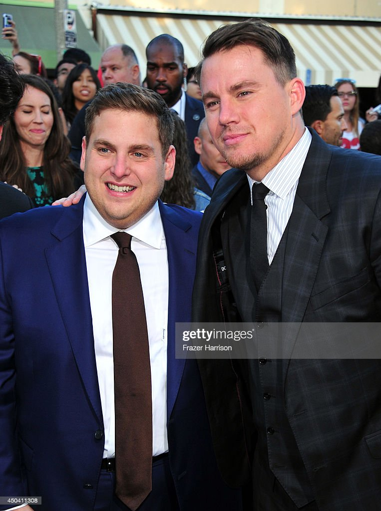 Actors Jonah Hill (L) and Channing Tatum attend the Premiere Of Columbia Pictures' '22 Jump Street' at Regency Village Theatre on June 10, 2014 in Westwood, California.