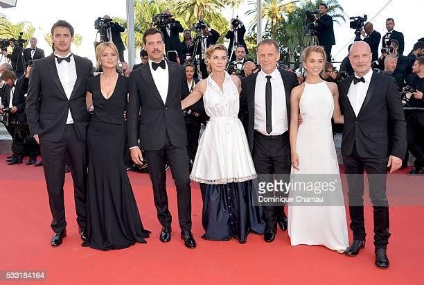 "Actors Jonas Bloquet, Virginie Efira, Laurent Lafitte, Anne Consigny, Charles Berling, Alice Isaaz and Christian Berkel attend the ""Elle"" Premiere..."