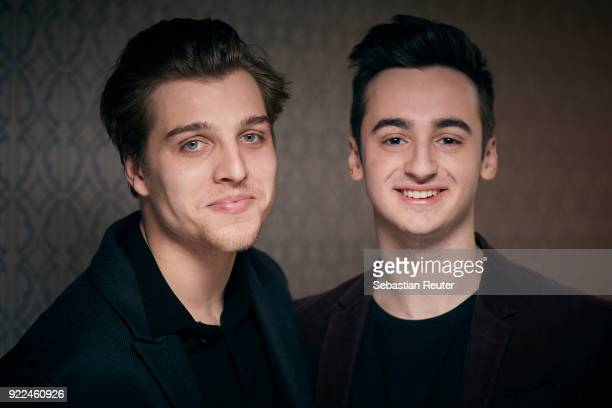 Actors Jonas Dassler and Isaiah Michalski pose during the 'The Silent Revolution' portrait session at the 68th Berlinale International Film Festival...