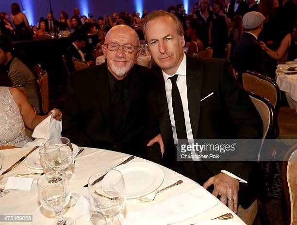 Actors Jonathan Banks and Bob Odenkirk attend the 5th Annual Critics' Choice Television Awards at The Beverly Hilton Hotel on May 31 2015 in Beverly...