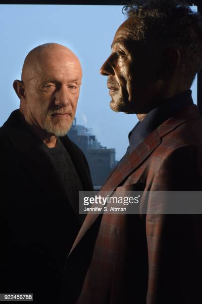 Actors Jonathan Banks and Giancarlo Esposito are photographed for Los Angeles Times on April 6 2017 in New York City