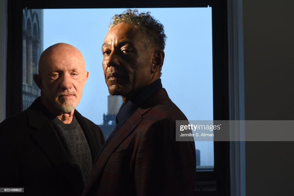 Actors Jonathan Banks and Giancarlo Esposito are photographed for Los Angeles Times on April 6, 2017 in New York City. PUBLISHED
