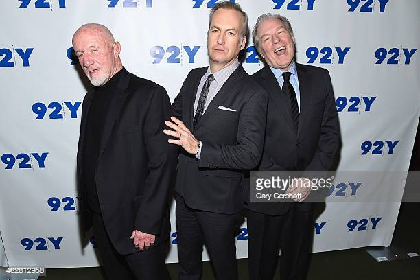 Actors Jonathan Banks Bob Odenkirk and Michael McKean attend the 92nd Street Y Presents 'Better Call Saul' at 92nd Street Y on February 5 2015 in New...