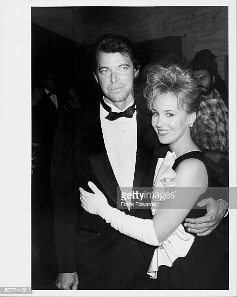Actors Jonathan Frakes and fiancee Genie Francis at the Soap Opera Awards Hollywood CA November 16th 1986