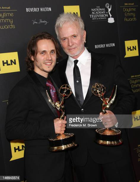 Actors Jonathan Jackson and Anthony Geary attend the 39th Annual Daytime Entertainment Emmy Awards at The Beverly Hilton Hotel on June 23 2012 in...
