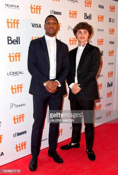 US actors Jonathan Majors and Richie Merritt attend the premiere of White Boy Rick during the Toronto International Film Festival on September 7 in...