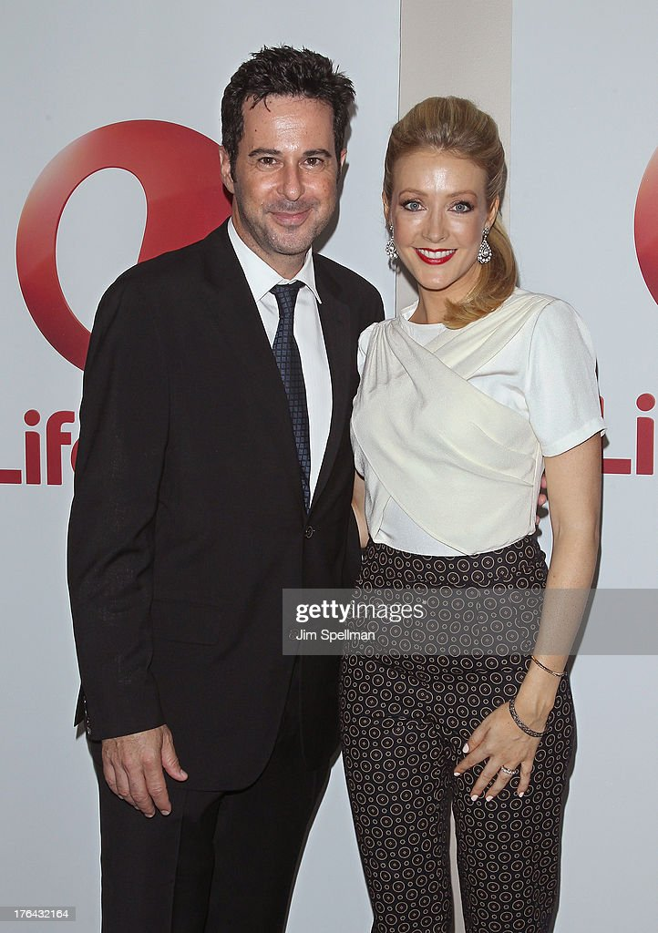 Actors Jonathan Silverman and Jennifer Finnigan attend the 'Baby Sellers' premiere at United Nations Headquarters on August 12, 2013 in New York City.