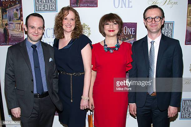 Actors Jonathan Spivey Wendy Rich Stetson Amy Warren and Greg McFadden attend the opening night party for Act One at The Plaza Hotel on April 17 2014...