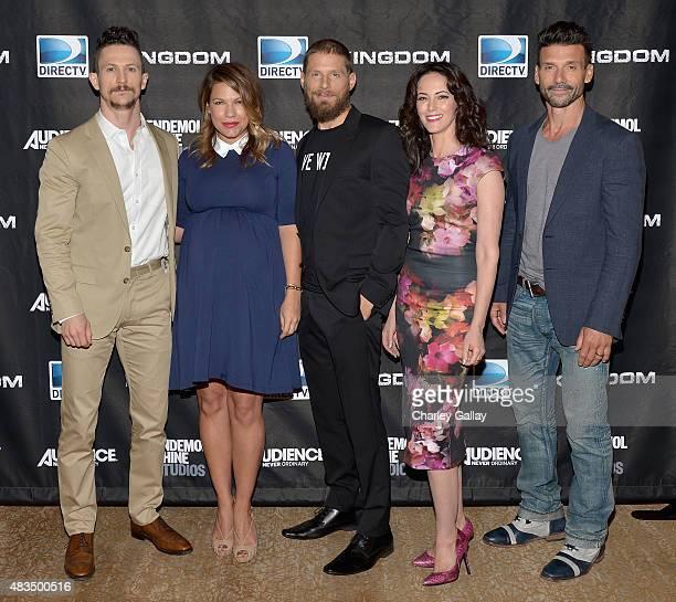 Actors Jonathan Tucker Kiele Sanchez Matt Lauria Joanna Going and Frank Grillo attend the DIRECTV's presentation of KINGDOM at the 2015 Summer TCA...