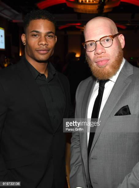 Actors Jordan Calloway and Marvin 'Krondon' Jones III attend Morehouse College 30th Annual A Candle In The Dark Gala at The Hyatt Regency Atlanta on...