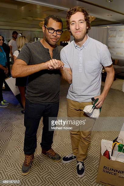 """Actors Jordan Peele and Thomas Middleditch got their beauty rest with Beautyrest Mattresses at EXTRA's """"WEEKEND OF   LOUNGE"""" produced by On 3..."""