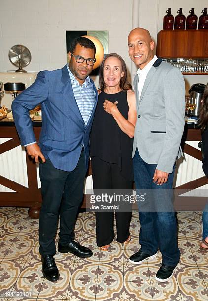 Actors Jordan Peele Laurie Metcalf and actor KeeganMichael Key attend the Variety Studio powered by Samsung Galaxy on May 28 2014 in West Hollywood...