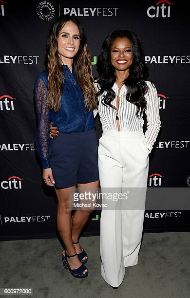 Actors Jordana Brewster and Keesha Sharp arrive at The Paley Center for Media's 10th Annual PaleyFest Fall TV Previews honoring FOX's Lethal Weapon...
