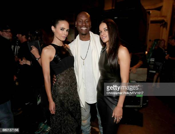 Actors Jordana Brewster Tyrese Gibson and Michelle Rodriguez attend the 2017 MTV Movie And TV Awards at The Shrine Auditorium on May 7 2017 in Los...