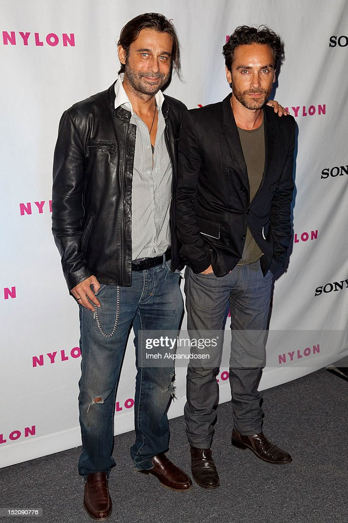 Actors Jordi Molla (L) and Antonio Del Prete attend the NYLON And Sony X Headphones September TV Issue Party at Mr. C Beverly Hills on September 15, 2012 in Beverly Hills, California.