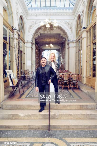 Actors José Garcia and Isabelle Doval are photographed for Madame Figaro on December 22, 2017 in Paris, France. CREDIT MUST READ: Alexandre...