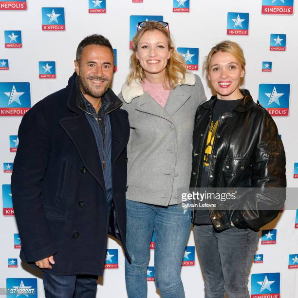 Actors Jose Garcia Anne Marivin and Alexandra Lamy attend photocall of the 'Chamboultout' Premiere on March 21 2019 in Lille France
