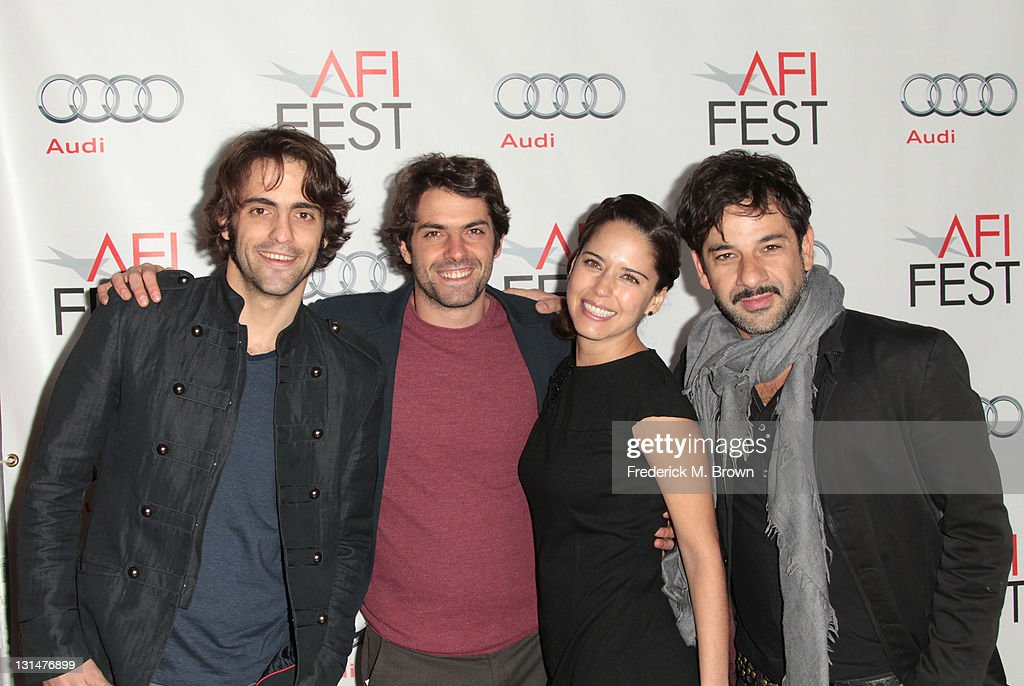 Actors Jose Maria de Tavira, Stephanie Sigman and Miguel Rodarte arrive at the 'Miss Bala' Centerpiece Gala during AFI FEST 2011 presented by Audi at the Egyptian Theatre on November 4, 2011 in Hollywood, California.