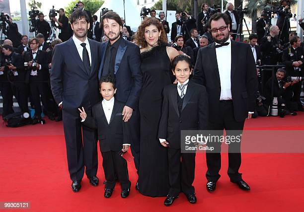 Actors Jose Maria Yazpik director Diego Luna Gerardo RuizEsparza Karina Gidi Christopher RuizEsparza and guest attend the Abel Premiere at the Palais...