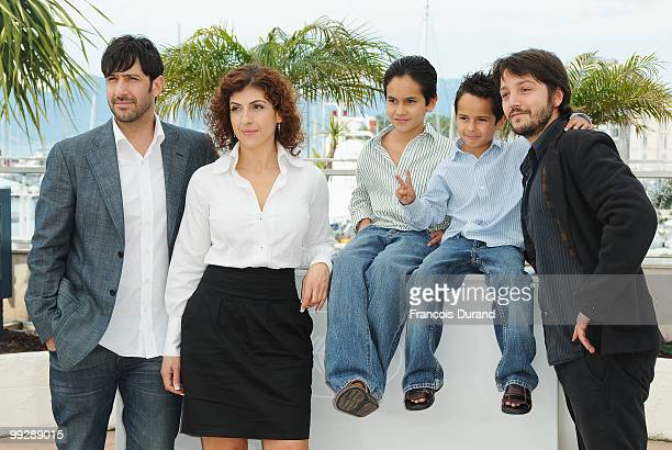Actors Jose Maria Yazpik Karina Gidi Christopher RuizEsparza Gerardo RuizEsparza and director Diego Luna attends the 'Abel' Photocall at the Palais...