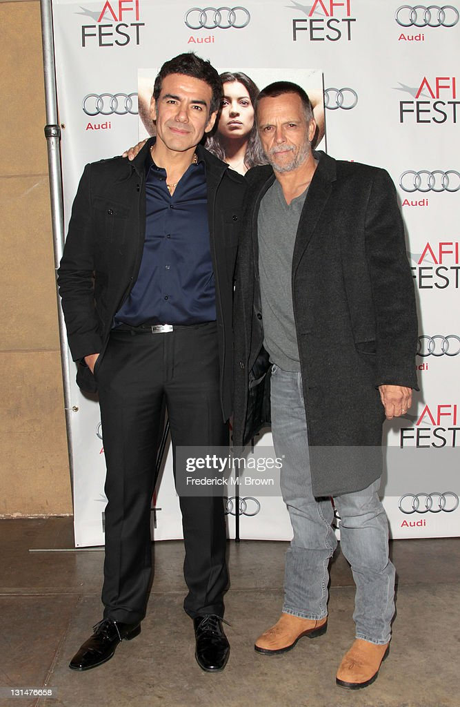 Actors Jose Yenque (L) and James Russo arrive at the 'Miss Bala' Centerpiece Gala during AFI FEST 2011 presented by Audi at the Egyptian Theatre on November 4, 2011 in Hollywood, California.