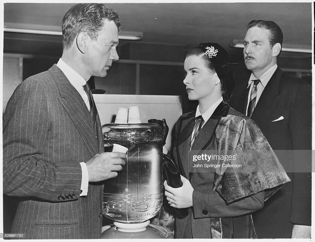 Actors joseph cotten and jean peters pictures getty images actors joseph cotten and jean peters in a scene from the 1953 film a blueprint for malvernweather Image collections