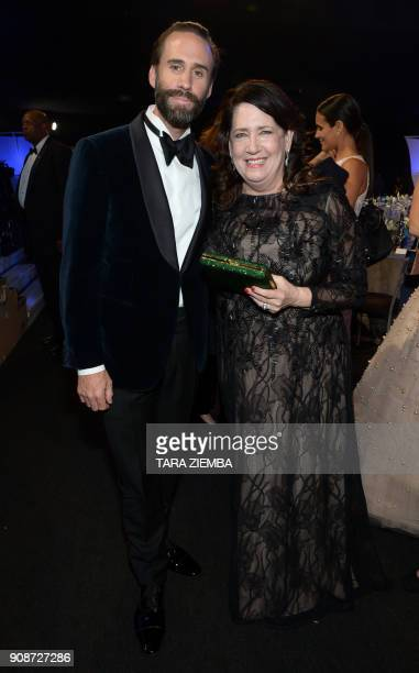 Actors Joseph Fiennes and Ann Dowd attend the 24th Annual Screen Actors Guild Awards show at The Shrine Auditorium on January 21 in West Hollywood...