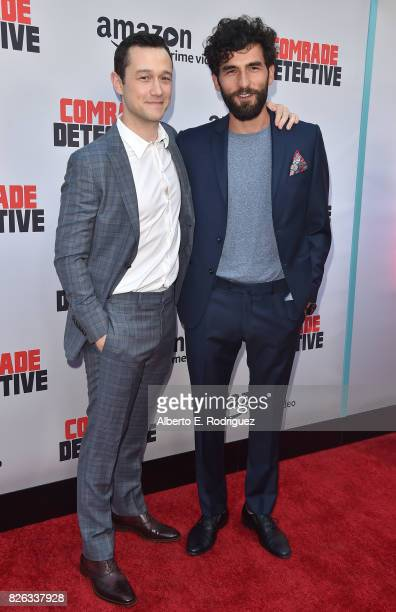 """Actors Joseph Gordon-Levitt and Cornilieu Ulici attend the premiere of Amazon's """"Comrade Detective"""" at ArcLight Hollywood on August 3, 2017 in..."""